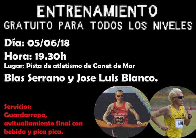 Ven a los entrenamientos para la Carrera de Sant Adria y del Masnou organizados por La Sansi