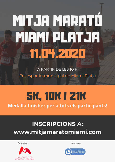 Only the inscriptions for the five-year edition of the Mitja Marató of Miami Platja