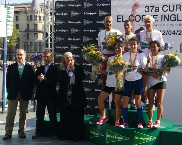 2 atletas del Club La Sansi al podio de la 37ª Carrera del Corte Inglés