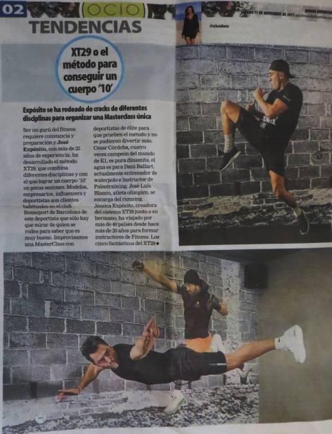 Mundo deportivo 11/11/17 reportaje 4 páginas con Joma