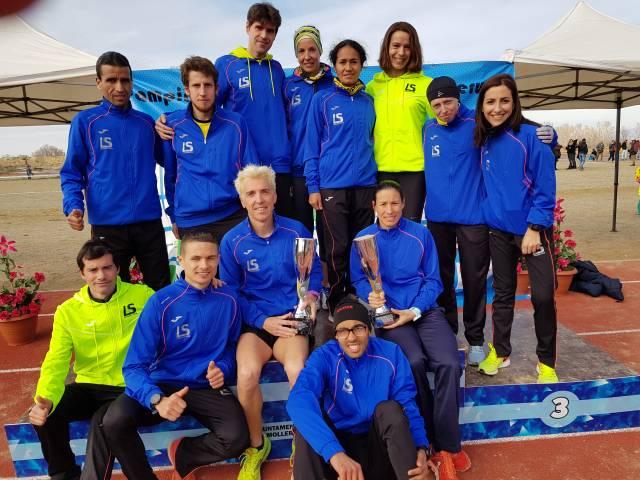 La Sansi Campeones en hombres y mujeres en el 99e campeonato catalán de cros largo 11/02/18 Mollerussa