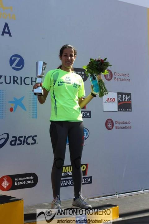Hasna Bahom 3a en La Maratón de Barcelona