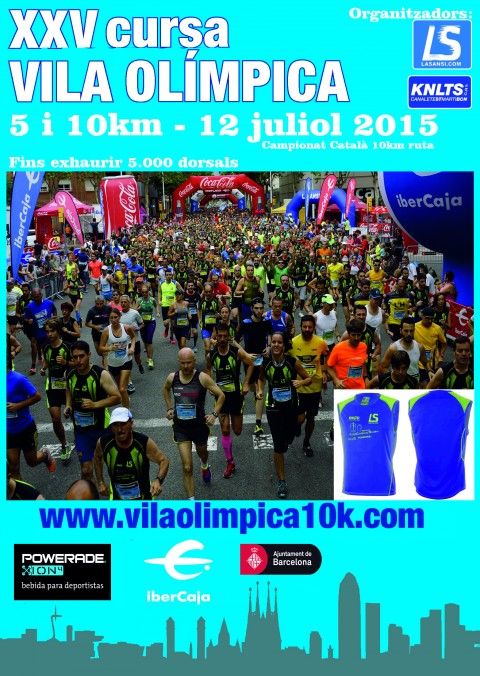 La 25ª Carrera Vila Olímpica de Barcelona se celebrará el 12/07/15