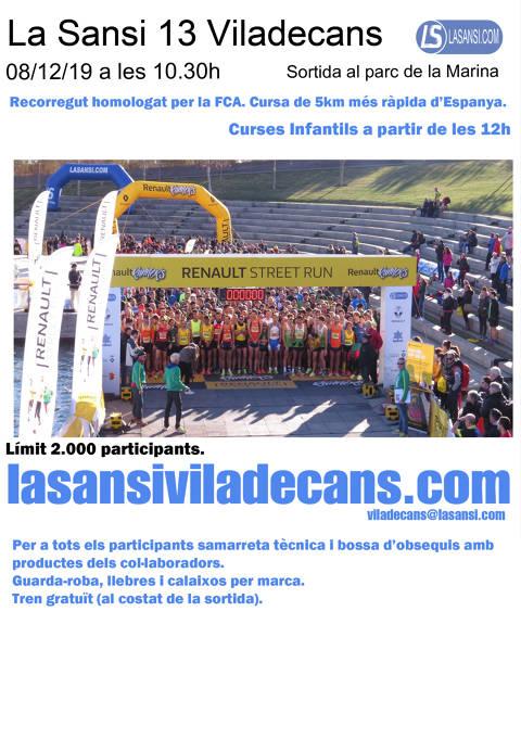 La Sansi de Viladecans de 5 y 10km 08/12/19