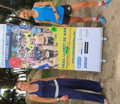 Sheila Avilés, best Spanish mountain runner, has trained today in Lloret de Mar, as part of her Lloretrail preparation