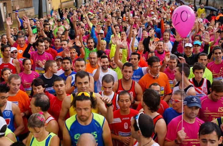 Aboujanah El Mehdi (Marroc) i Inna Lebedeva (Ucraïna) guanyen la 2a Sansi de Sant Feliu de Llobregat de 5km Sant Feliu de Llobregat, 17 de novembre de 2013