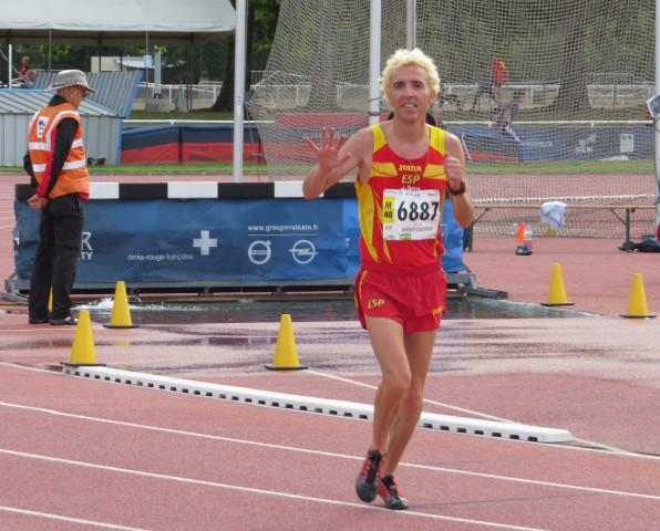 Blanco gana los 3.000m.obs en el Mundial master de Lyon