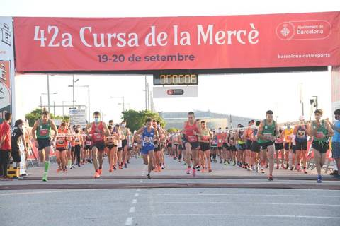 Artur Bossy and Gema Barrachina, winners of the Cursa de la Mercè 2020