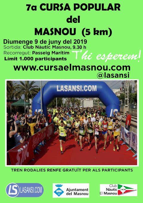 Inscripcions obertes a la 7a Cursa popular del Masnou