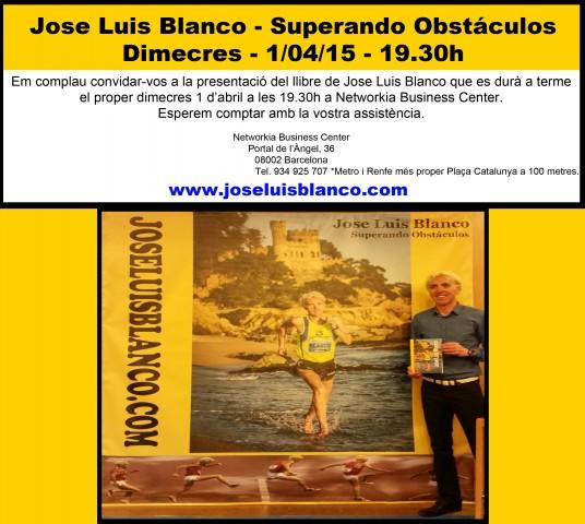 Presentació Llibre Jose Luis Blanco- 1/04/15 - 19.30h