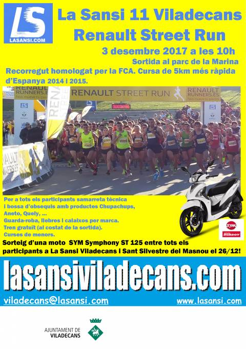 Renault Street Run Sansi de Viladecans de 5 y 10km 03/12/17