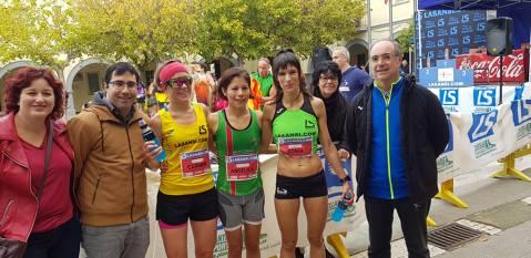Edgars Sumskis i Angelica Esparza La Sansi i La Sansi guanyen el campionat català de muntanya a la 33a pujada i baixada a Guanta (Sentmenat)