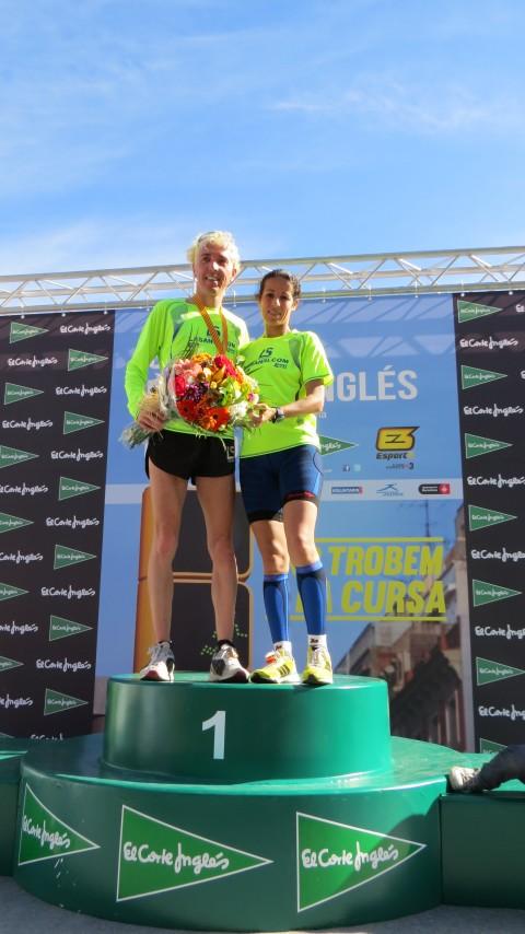 2 atletas del Club La Sansi el podio de la 36 ª Carrera del Corte Inglés