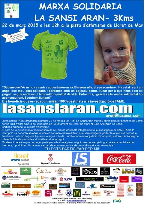 Ja son més de 1000 inscrits a la Marxa Solidària La Sansi Aran 22/03/15!El límit son 1.500.