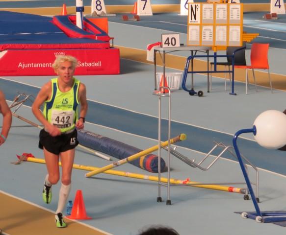 Josep Lluis Blanco rècord de Catalunya absolut de 5.000 metres indoor