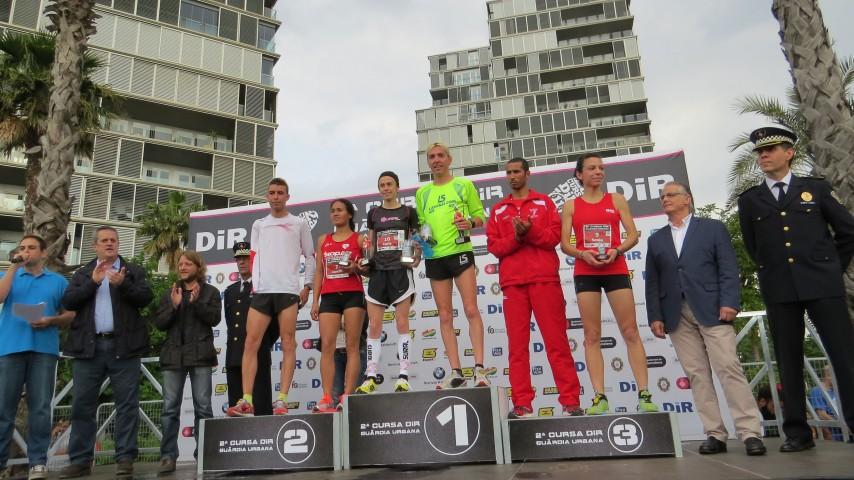 José Luis Blanco, del Club La Sansi, ganador de la carrera del DIR Guardia Urbana de Barcelona de 10km