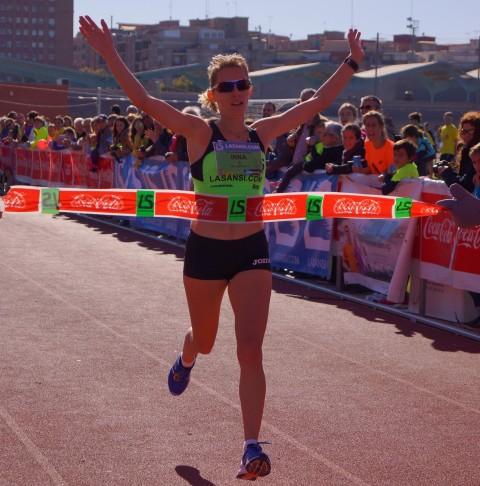 Inna Lebedeva (Ucraïna) i Edgars Sumskis (Letonia) guanyen la 3a Sansi de Sant Feliu de Llobregat de 10km