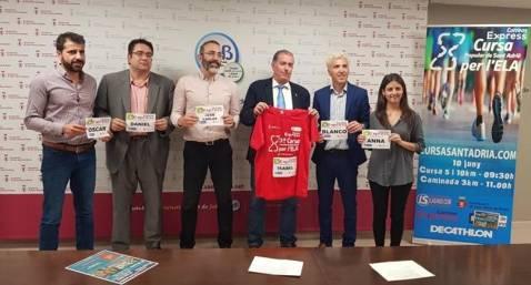 Presentada la 3a Cursa Correos Express Sant Adrià del Besòs per l'ELA Atletisme.cat