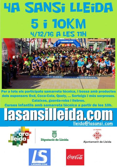 Inscripcions obertes per la Cursa Popular 4a Sansi de Lleida de 5 i 10km