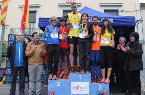 Edgars Sumskis y Angelica Esparza La Sansi y La Sansi ganan el Campeonato catalán de montaña en la 33ª subida y Bajada a Guanta (Sentmenat)