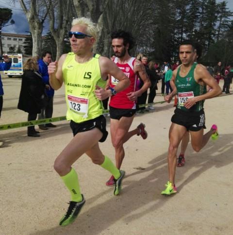 El equipo de La Sansi femenino y Jose Luis Blanco campeones en el campeonato catalán de cross veterano en Caldes de Malavella
