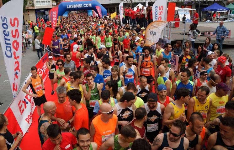 Rècord d'inscrits i arribats a la 3a cursa Correus Express Sant Adrià per la Ela de 5 i 10km 10/06/18