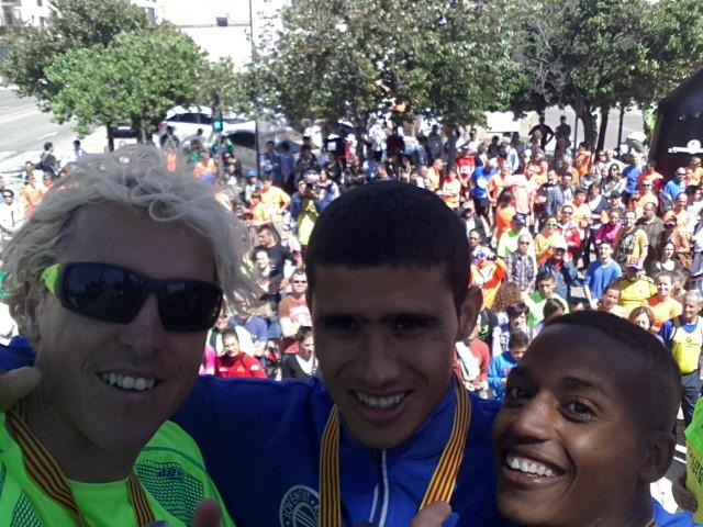 Blanco 3o y Hasna Bahom 2a en el campeonato catalán de 5km