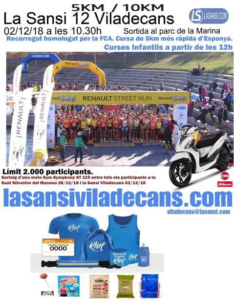RENAULT STREET RUN SANSI VILADECANS DE 5 Y 10KM 02/12/18