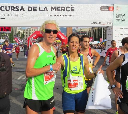 Hasna Bahom campeona y Blanco 6o en la 35 Carrera de La Mercè