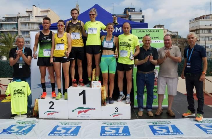 Pablo García i l'atleta internacional Eva Arias guanyadors de la 6a Cursa popular del Masnou