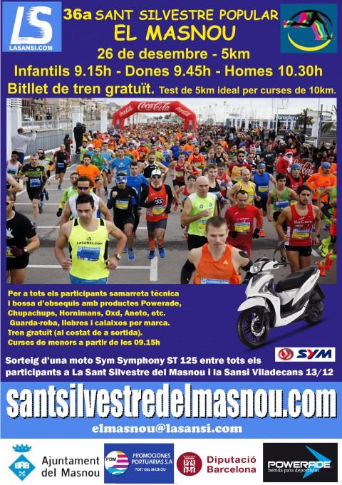 Inscripciones abiertas a la 36ª Sant Silvestre del Masnou 5km - 26/12/15