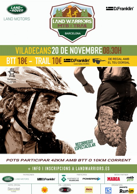 Land Warriors MTB i TRAIL Viladecans 20/11/16