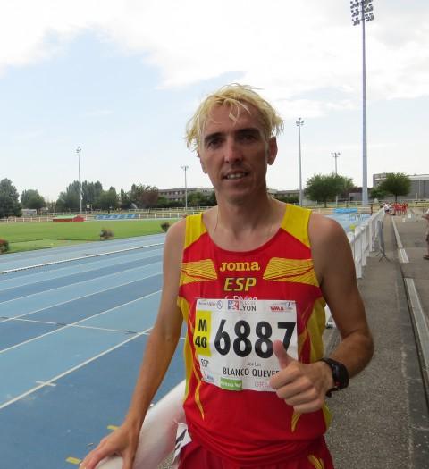 Blanco gana los 5000mts en el Mundial Master de Lyon