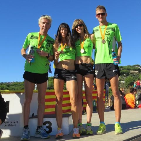 La Sansi medalla de bronce en el 1er campeonato catalán de cross por relevos en Mataró