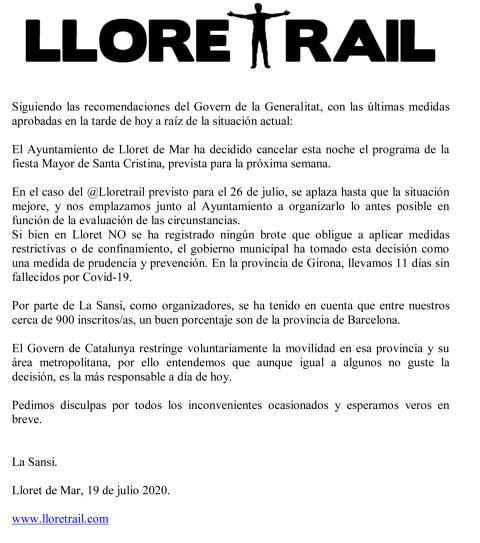 Aplazada Lloretrail