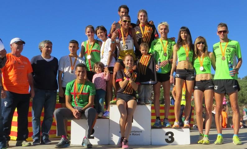 La Sansi medalla de bronce al 1er campionat català de cros per relleus a Mataró