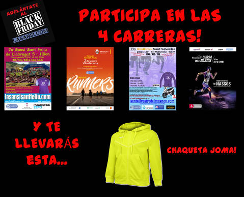 Nos adelantamos al Black Friday! Corre gratis!