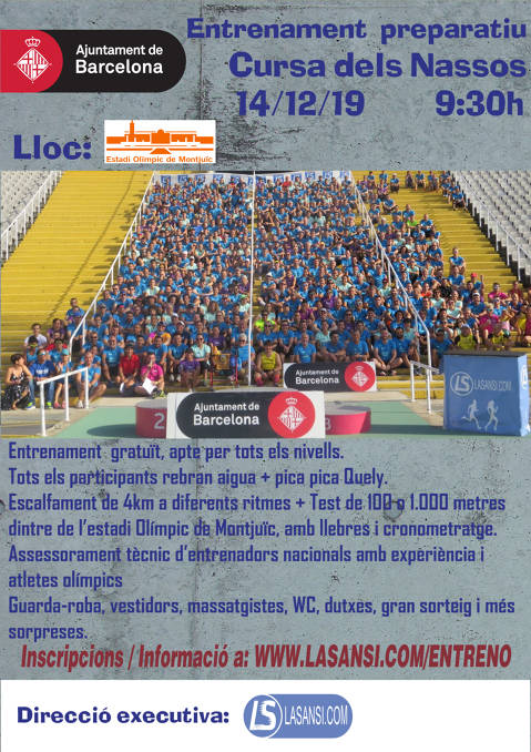Open registrations to the Macroentreno Cursa dels Nassos 2019